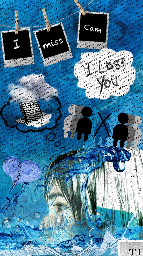 """Collage for the book """"Pieces of Sky"""" that I created for a school project💦💙"""
