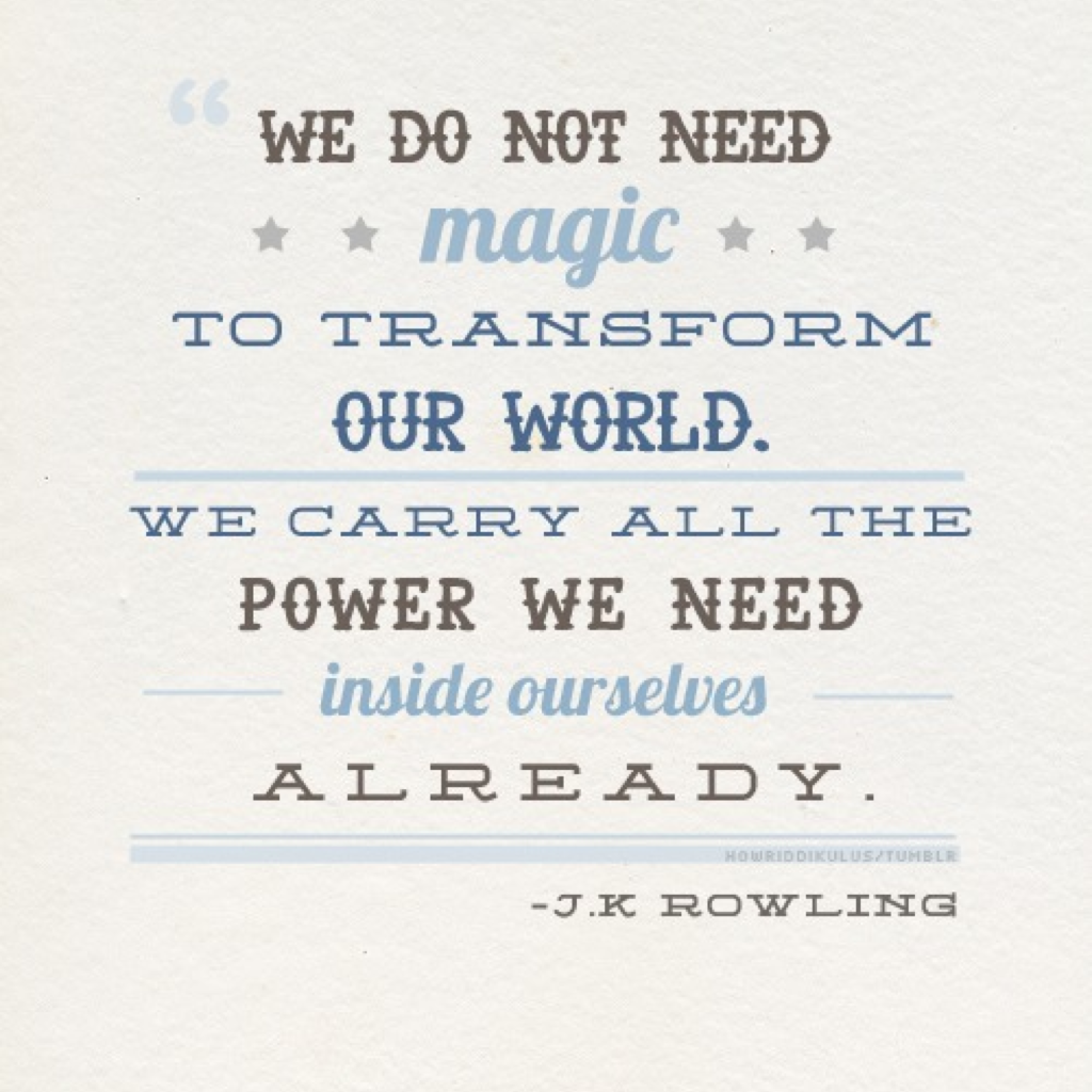 Start off your morning with a quote by the fantastic J.K. Rowling✨😊