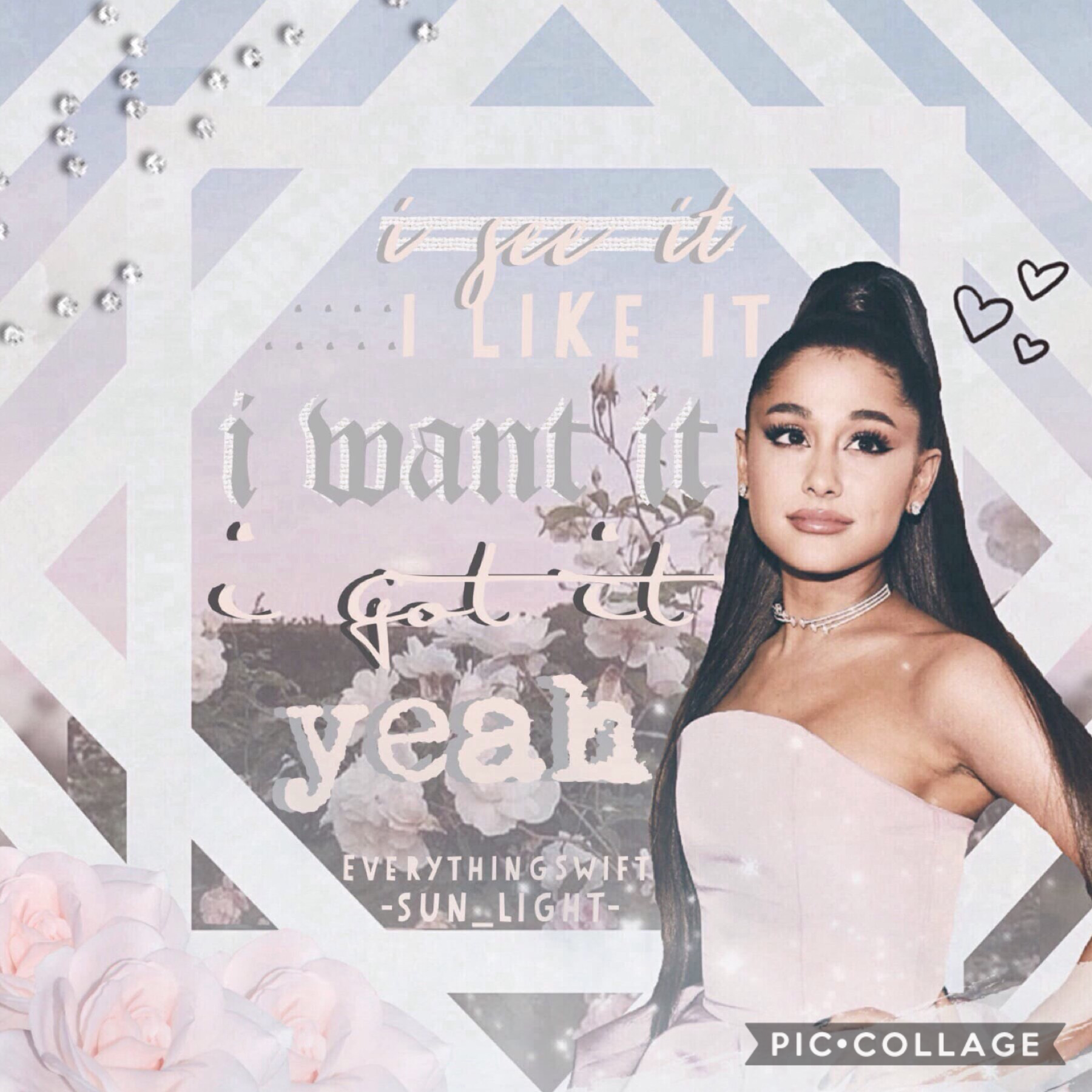 🌿an amazing collab with the truly talented @EverythingSwift!🌿she is super talented and check her out acc out!!🌈💕 I am literally listening to the whole sweetener album 24/7 and ari's new song is amazing!! wow...such a fangirl😂💖 new post coming soon!...be r
