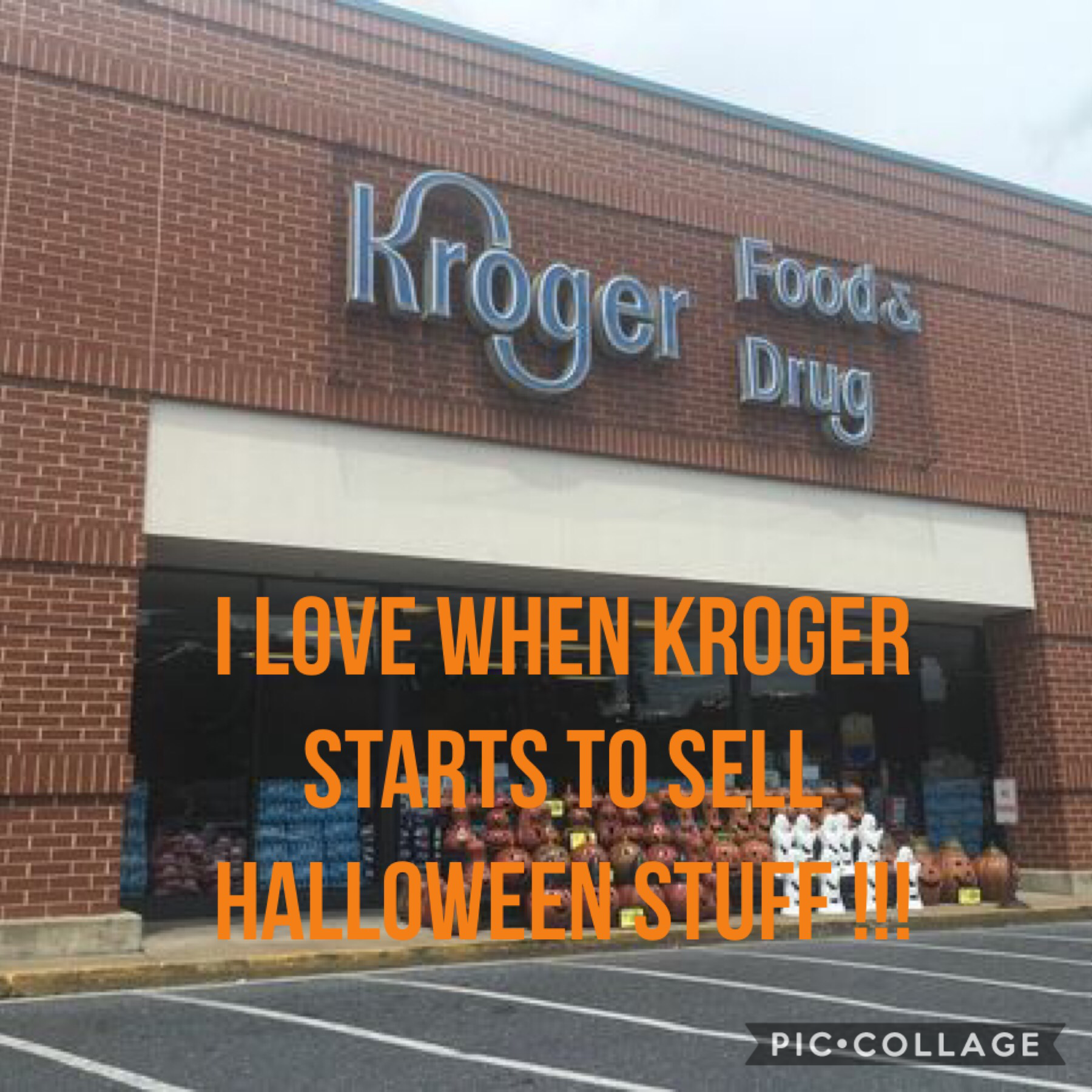 I love Kroger @ Halloween time 🎃