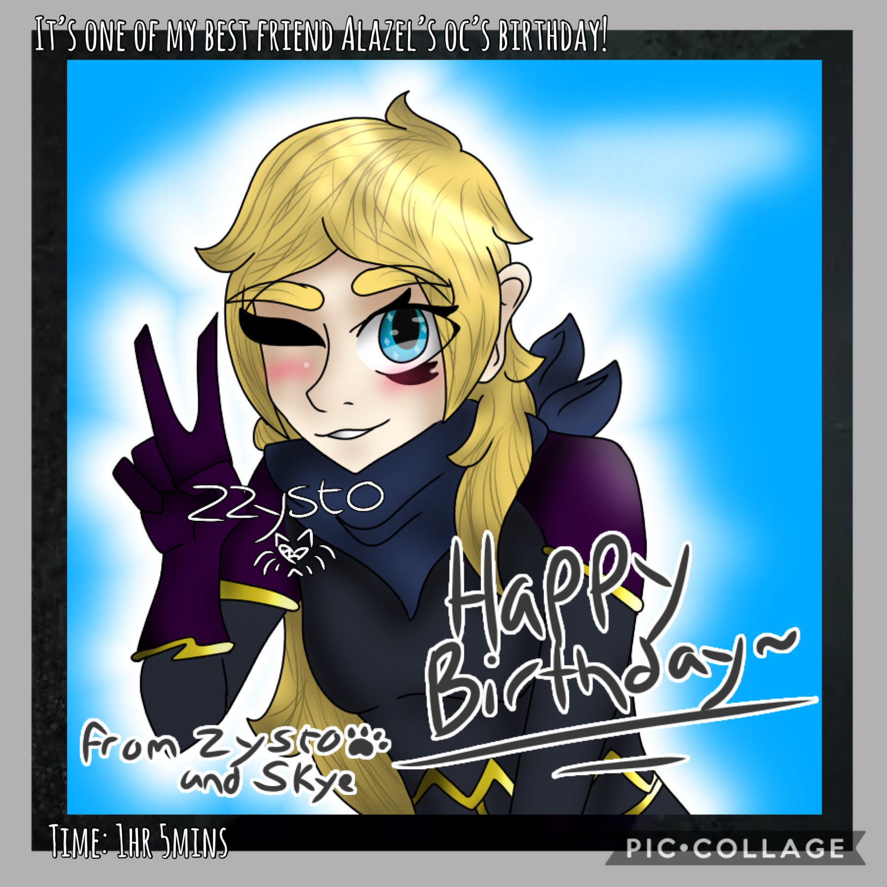 💫Tap💫 I've posted twice, I know, but I was meant to post this this morning and never did because I didn't have time and was worried I got the wrong date- Happy birthday to Alazel's persona!! :DD 🎉 ((Alazel belongs to @WillowMoon~))