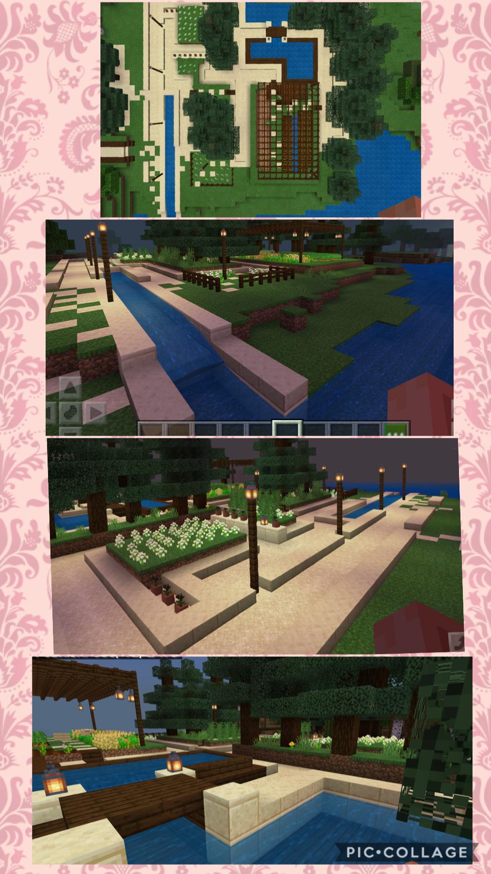 built a garden/ maze in minecraft coz i have no life 😇