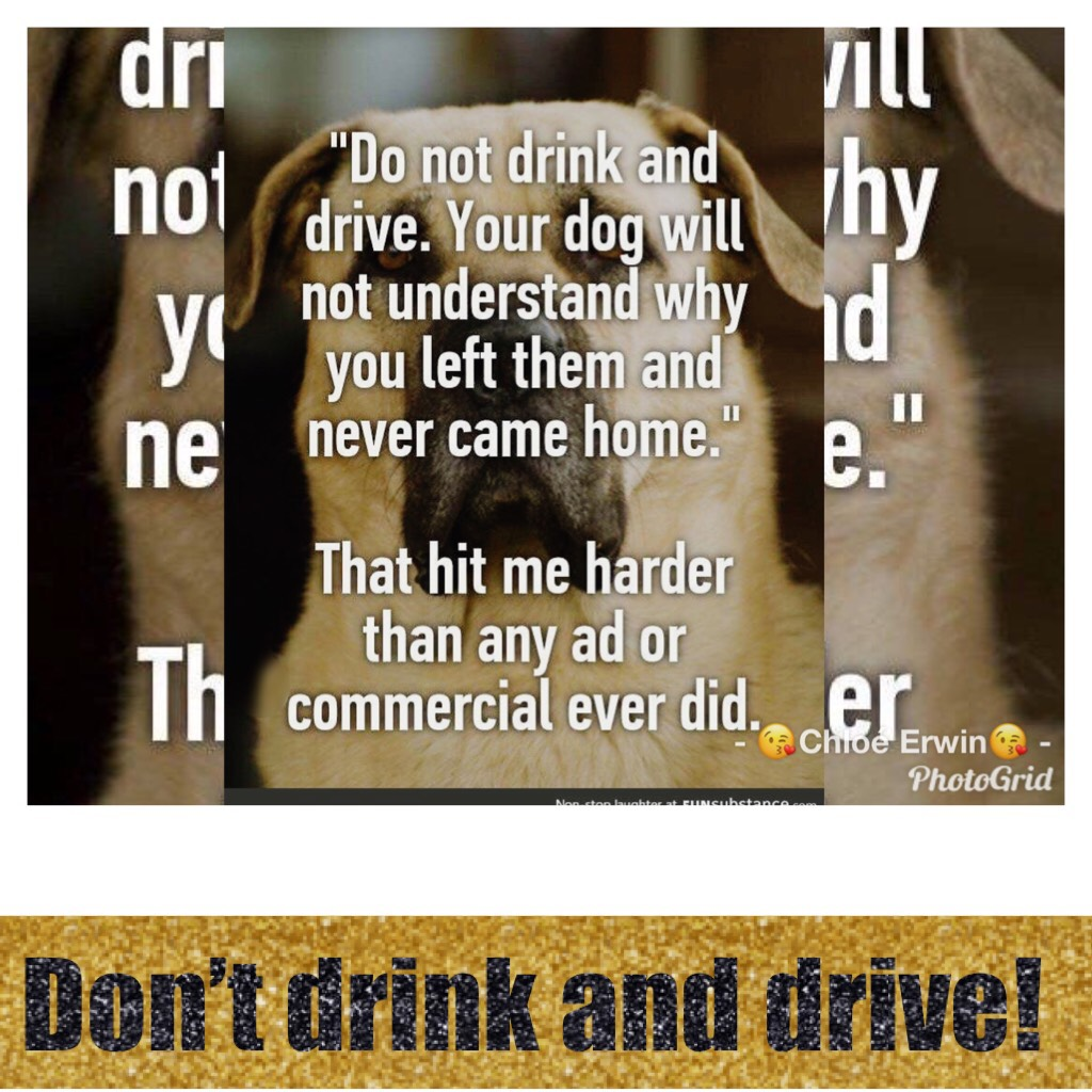 Don't drink and drive!!!😥😥😥