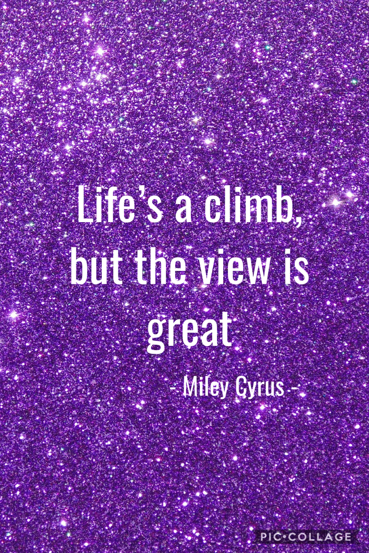 One of the best inspirational quotes from the movie, Hannah Montana.