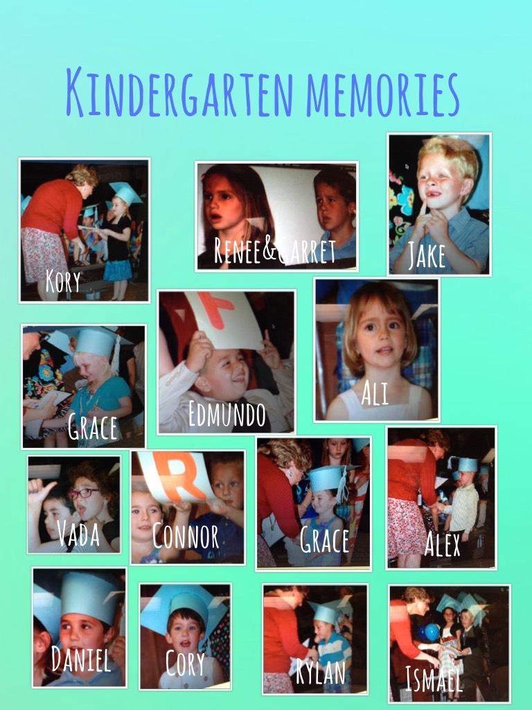 I miss kindergarten so much! We were all so cute! 😭😇
