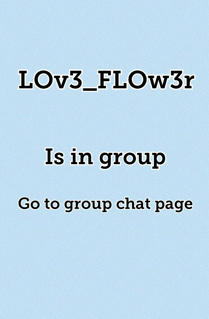 Go to group chat page