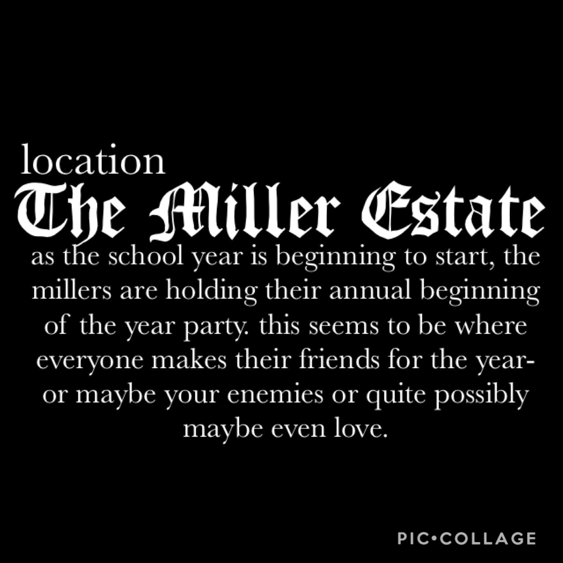 🖤Welcome to The Miller Estate🖤