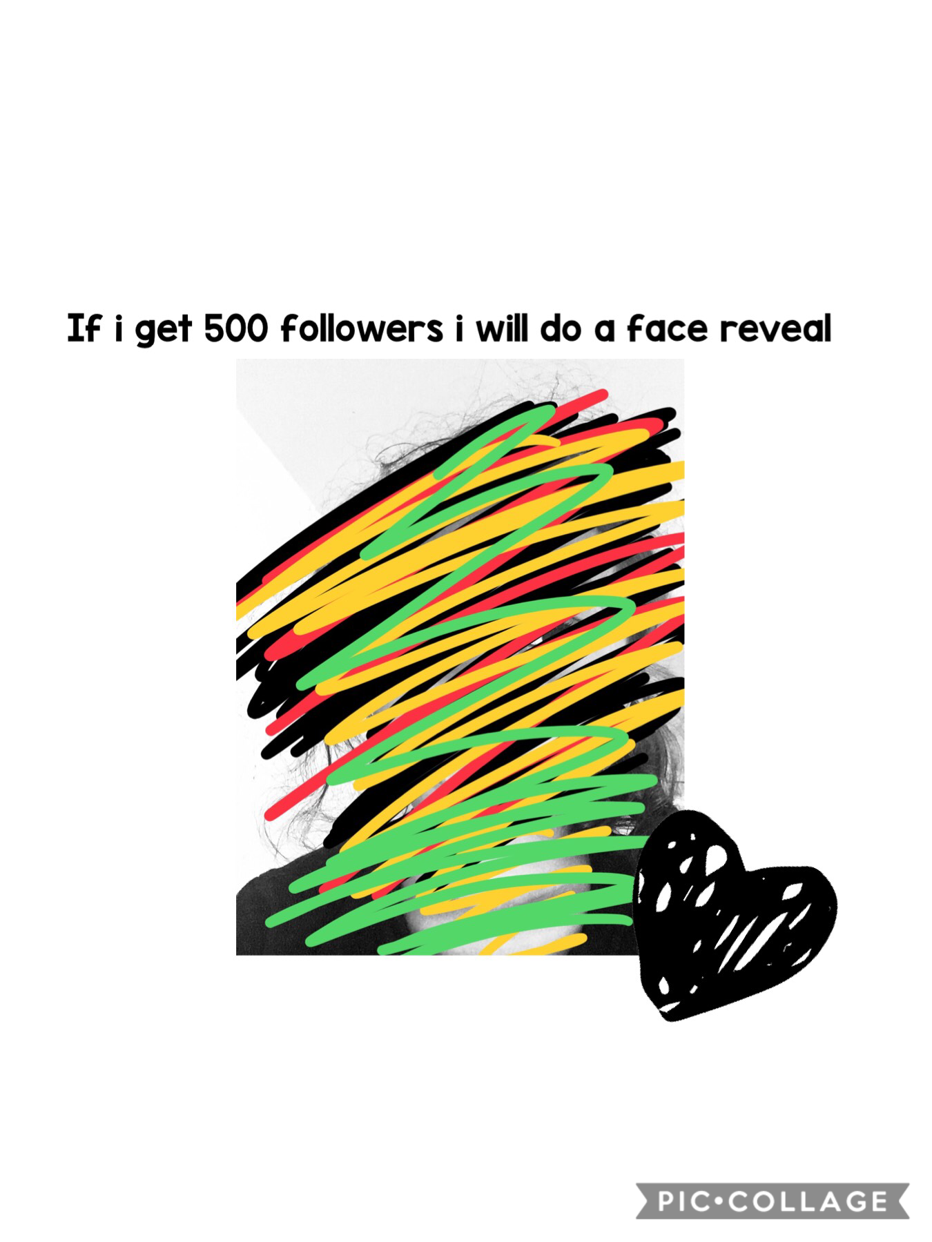 Face reveal only at 500 followers!!?!?
