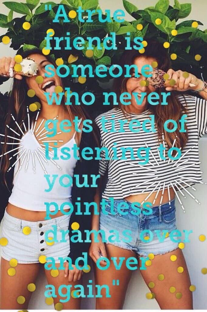 A true friend........