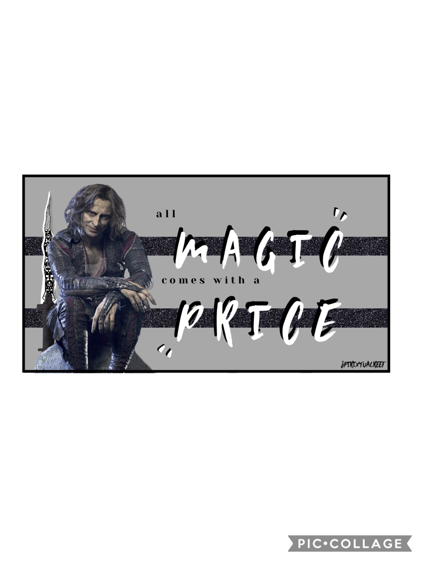 The new fonts are really cool 👌. Been rewatching Once Upon A Time with the intention of finishing it this time and my favourite character is still Rumple/Mr Gold. I think I like villains lol.