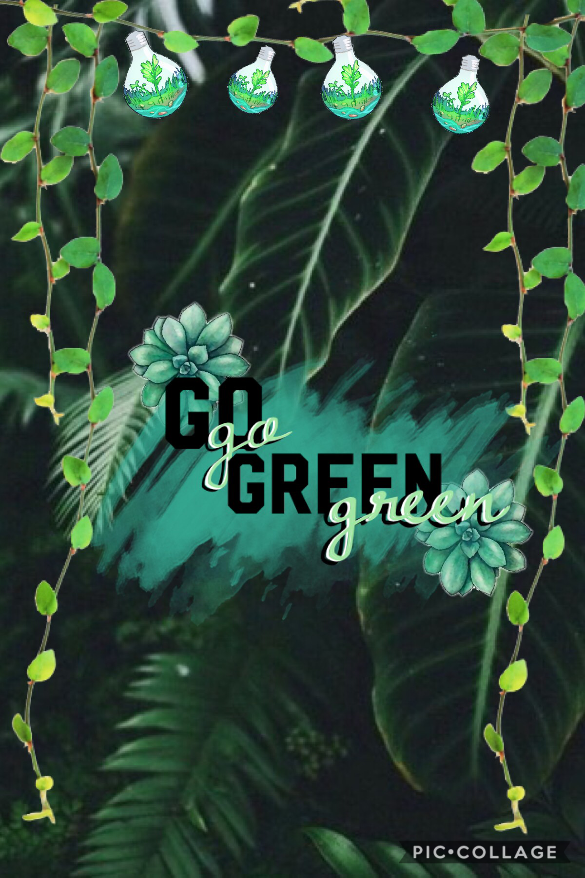 This is my green for the colour collages