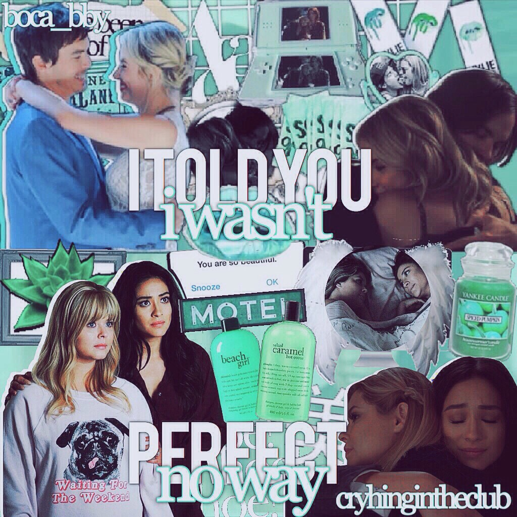 t a p p y hi beauties! this is a collab with the amazing @boca_bby. she did haleb and i did emison. she did perfectly and i did terrible but oh well😂💓 s t a y  a l i v e - l e x i 💗