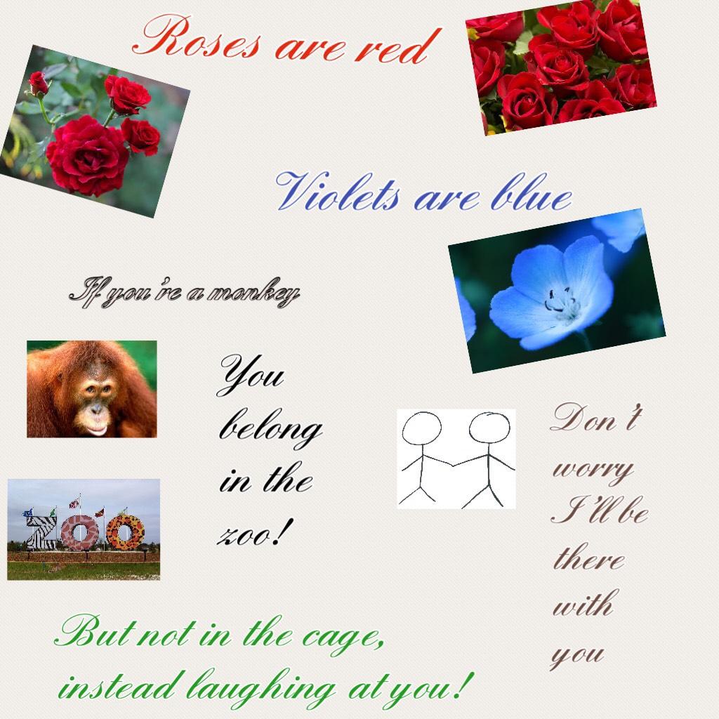 Lol I just did the poem. It was fun! Gotta admit!