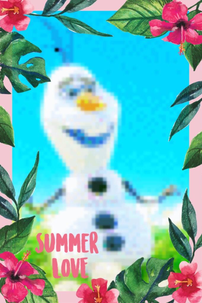 Olaf in summer!❤️  #summerlove