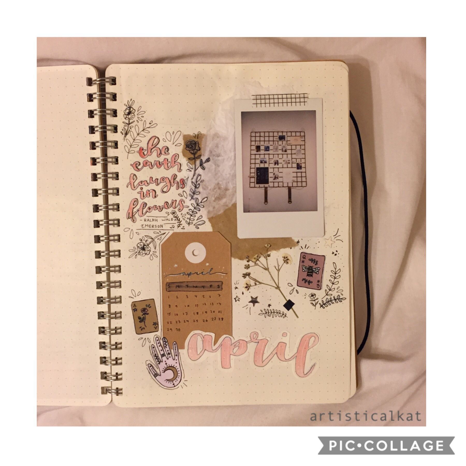 28•06•18 | 🌼 April cover spread 🌻 | on the train 🚂 |   and yes, I know I know it's not April anymore 🙈✨ | xx Kat