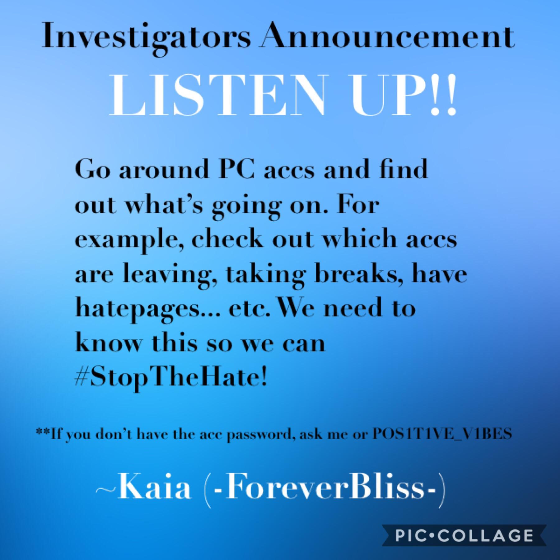 •••tap••• Go find out PC info!! Love, Kaia 😘