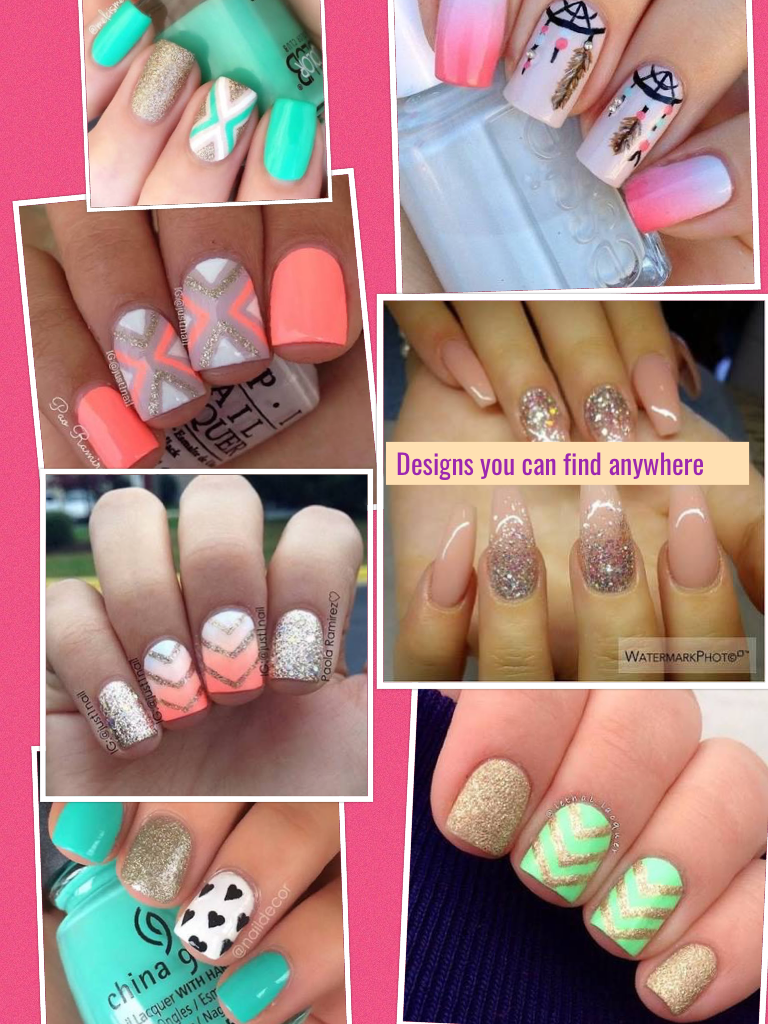 you can find nail designs anywhere