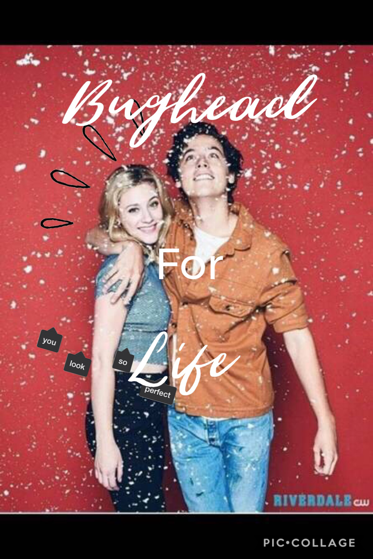 Collab With The Awesome unicorn_edit💛 Tap 💛  QOTD:Favourite Riverdale Couple  AOTD:BUGHEAD💛