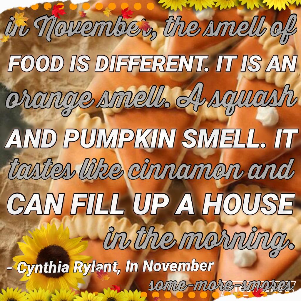 Thoughts? I love November. 😊🍁🍂