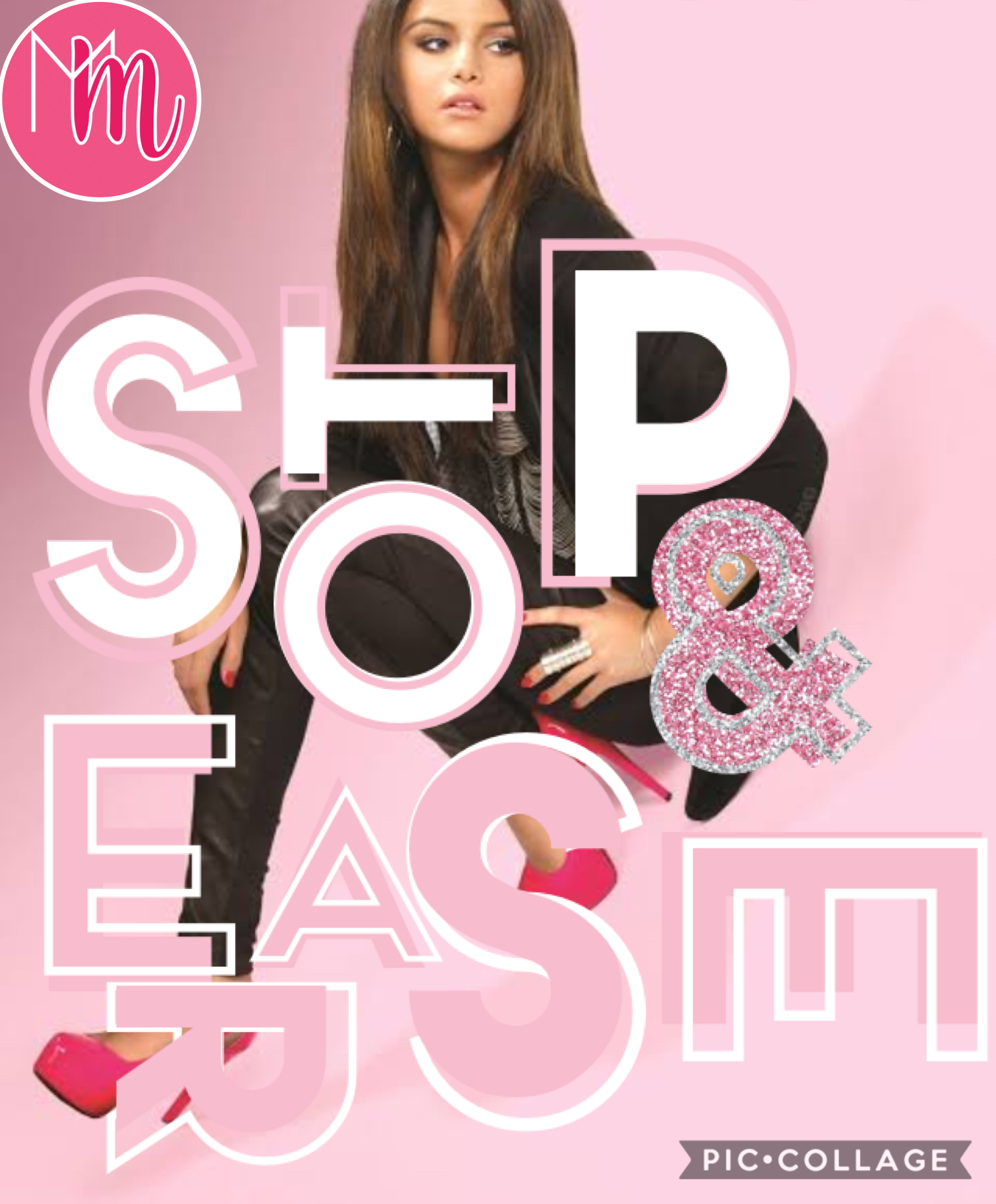 Tap  I'm in love with this song, Stop & Erase by Selena Gomez & The Scene.