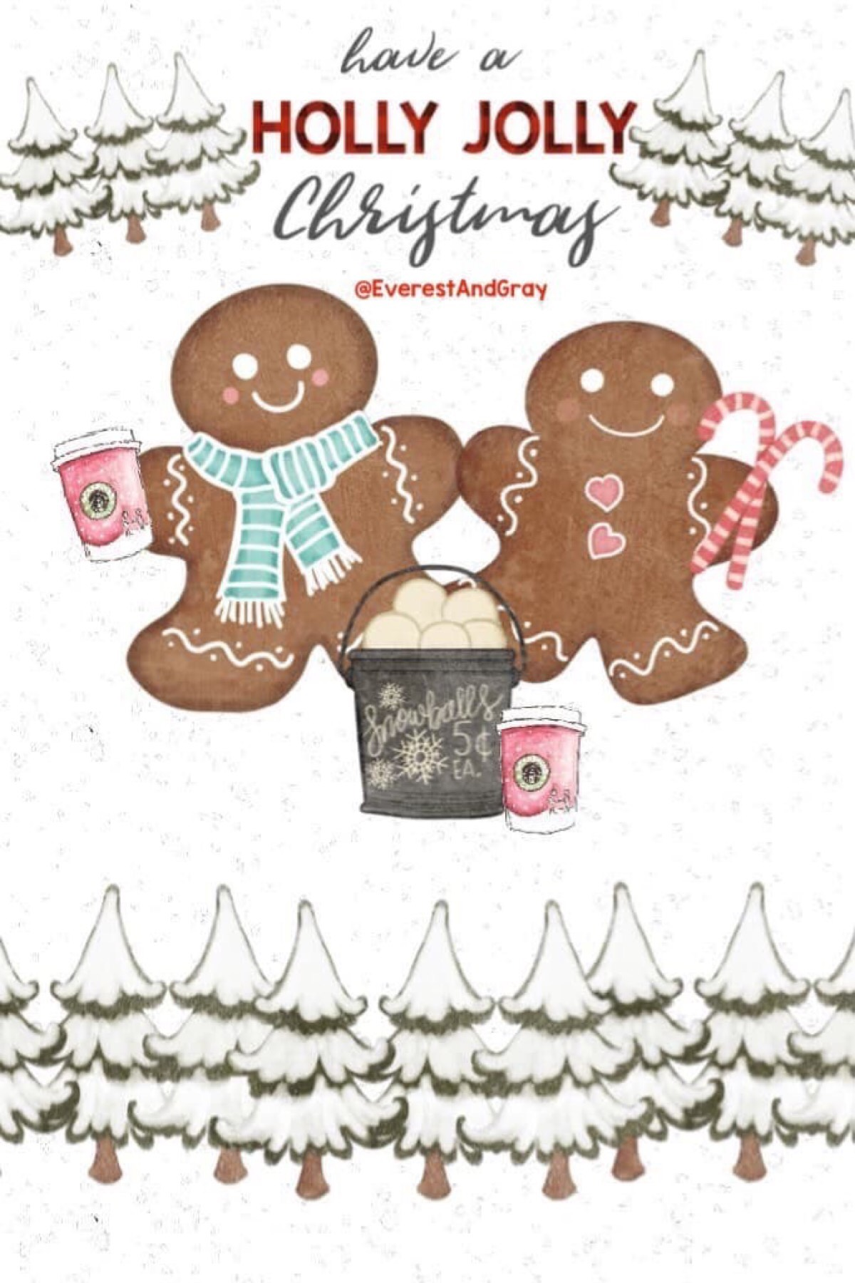 🌲Have a #HollyJollyChristmas! 🛷☃️🍭What do you guys think of these gingerbread cuties?🌲 #Christmas @piccollage #gingerbread #cute