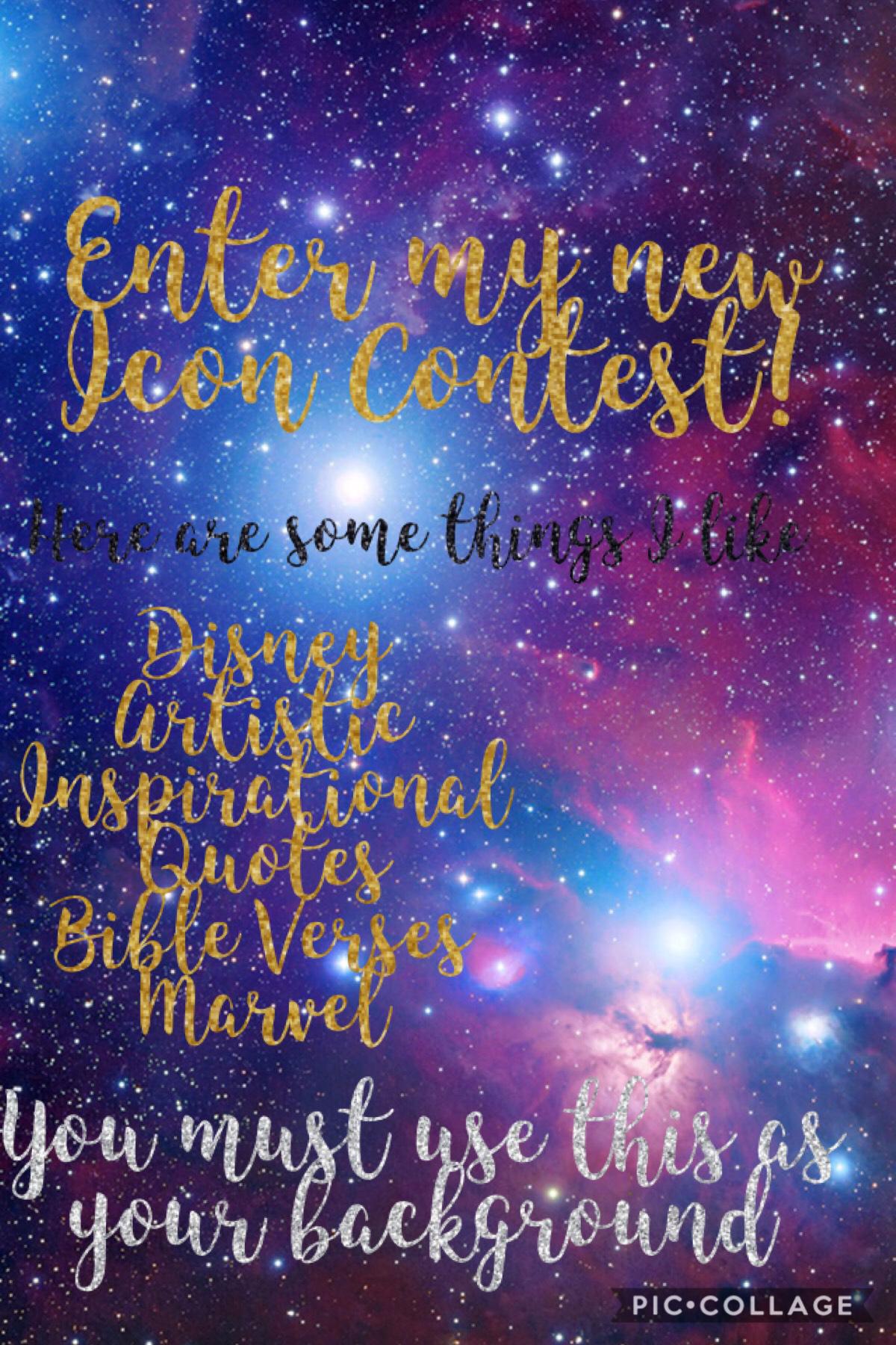 I have my first icon contest! Make an icon on the remix page and I will post the winners on 9/01/19!
