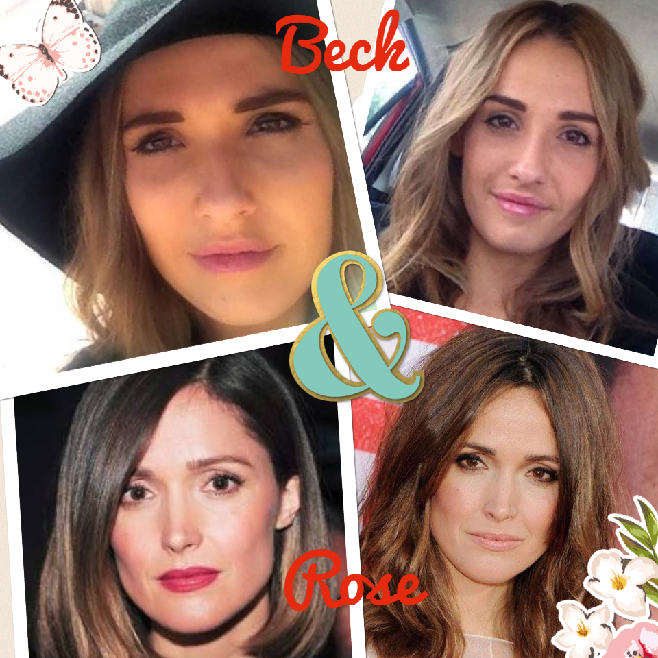 "Beck & Rose #piccollage Beck has been mistaken for Rose Byrne numerous times and if she had a dollar for every time somebody said "" Has anyone ever told you , you look like Rose Byrne ?"" .... She'd be wealthier than ... Well , Rose !  BTW Beck - wanna com"