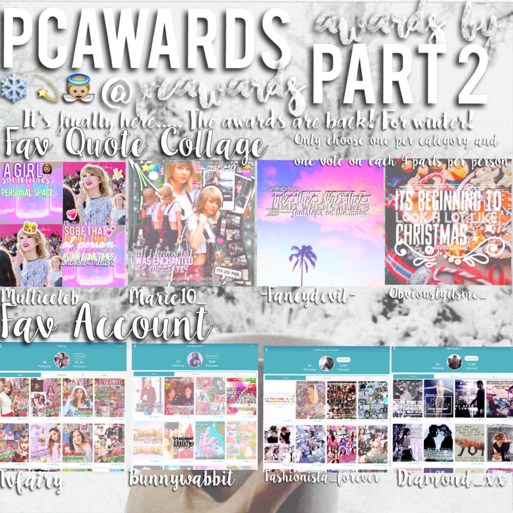 Hey🙊I'm Back with a new award show🌟Make sure to enter all four parts😚 2/4