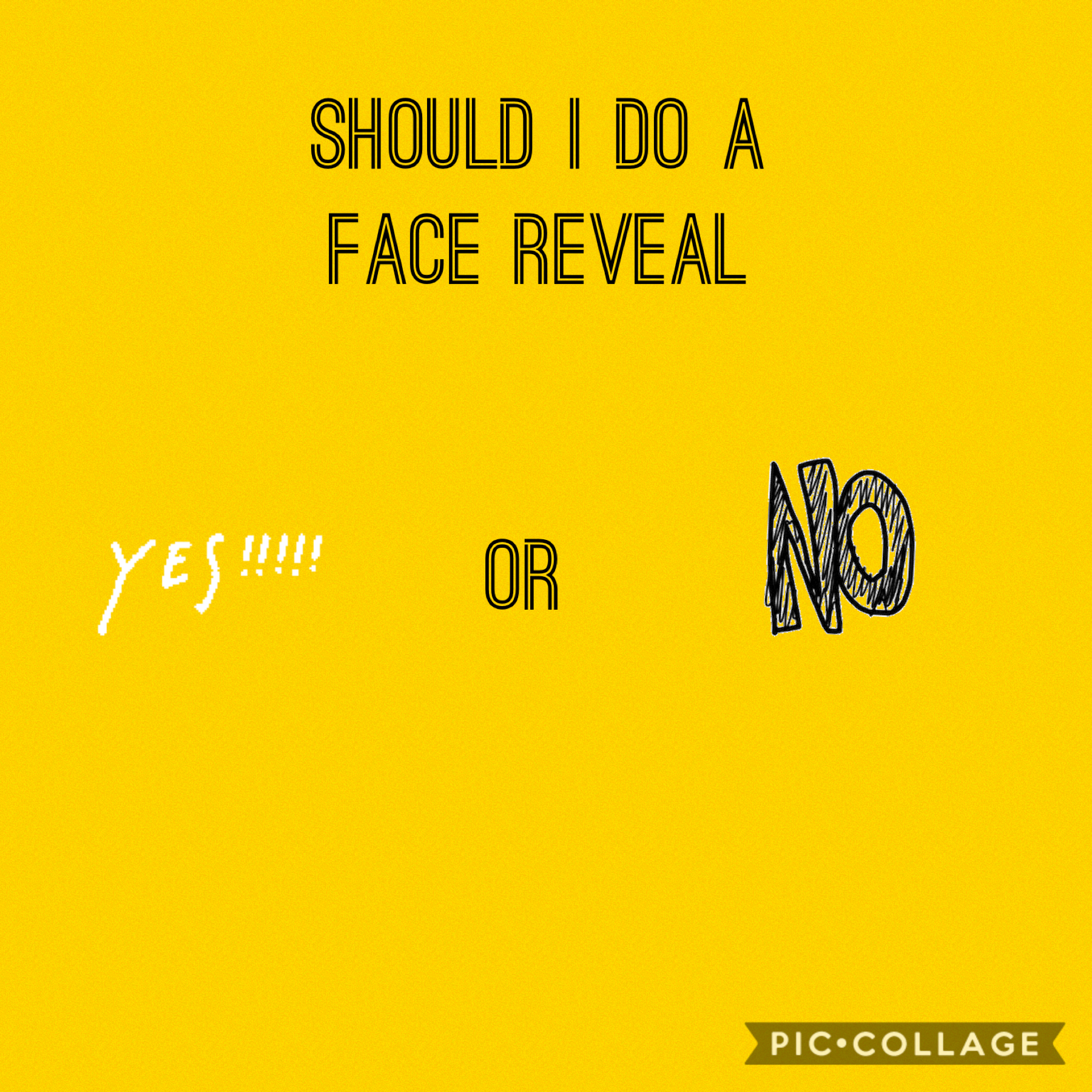 Face reveal or no