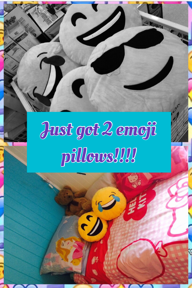 Just got 2 emoji pillows!!!!