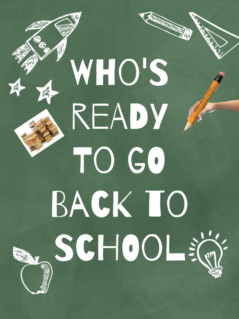 Who's ready to go back to SCHOOL 🏫