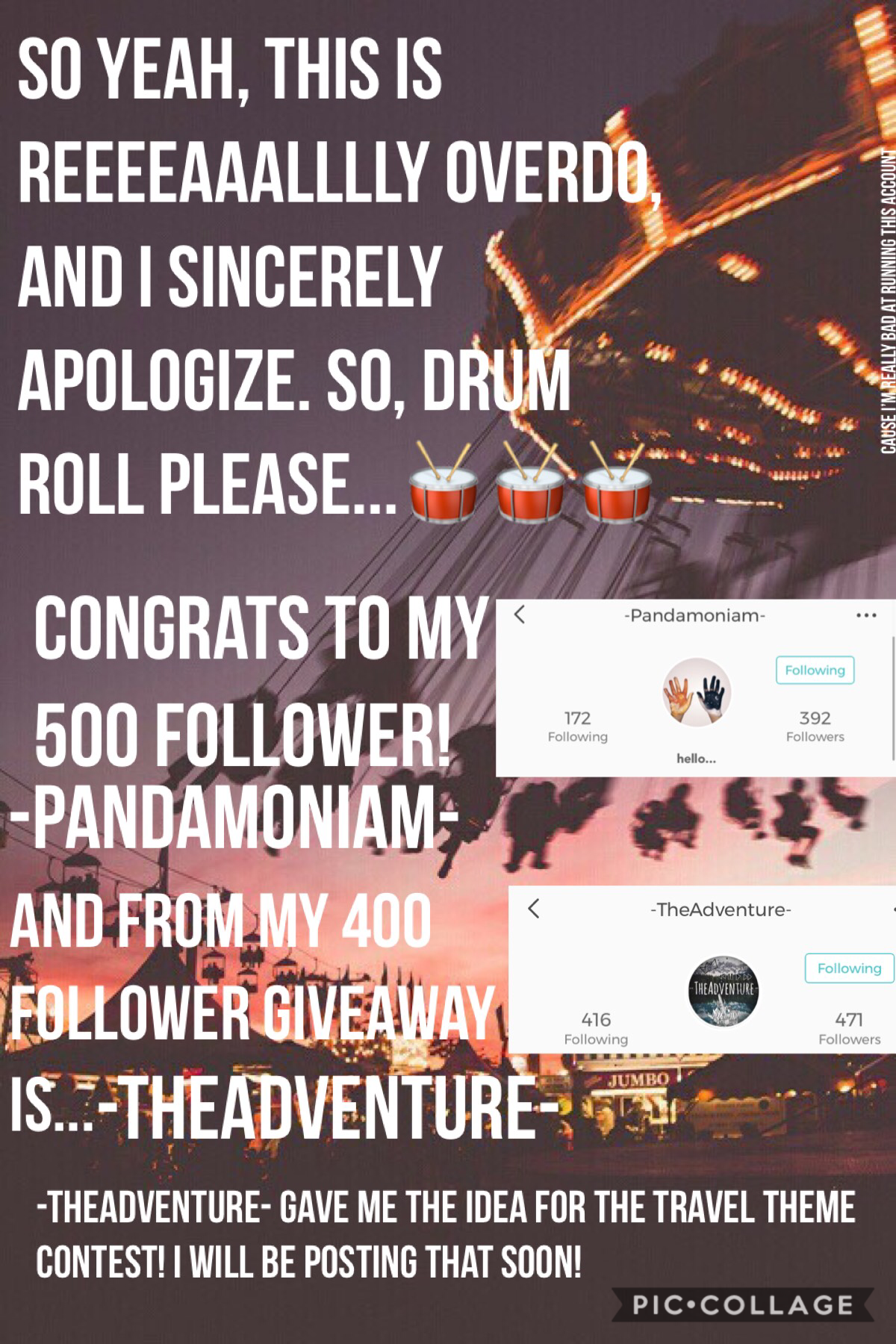 Sorry again that this is soooo overdue!  If the persons mentioned in this collage want anything else besides a ShoutOut, just let me know!😊