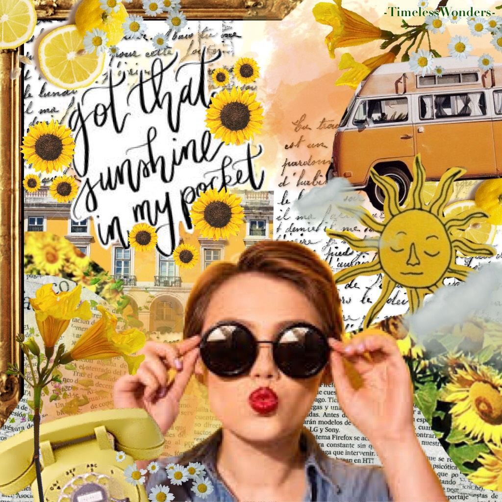 I absolutely adore this collage! This is one of my favorites.🌻🌻🌻