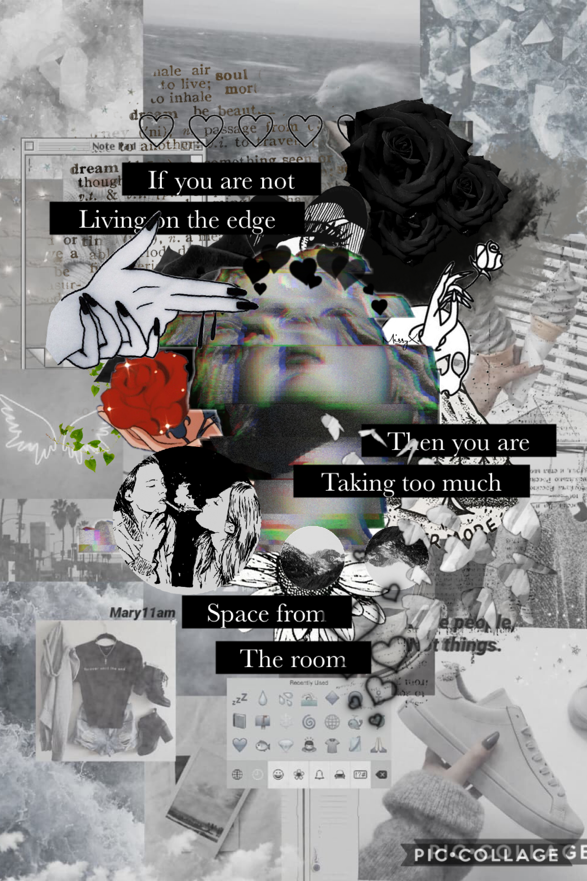 ✨Tappy✨ Used the incredible Mary11am's post as my background, thank you so so much for allowing me to use it💕💕 also inspired by GemQuotes i am trying to find some inspo and style for my next collage :))