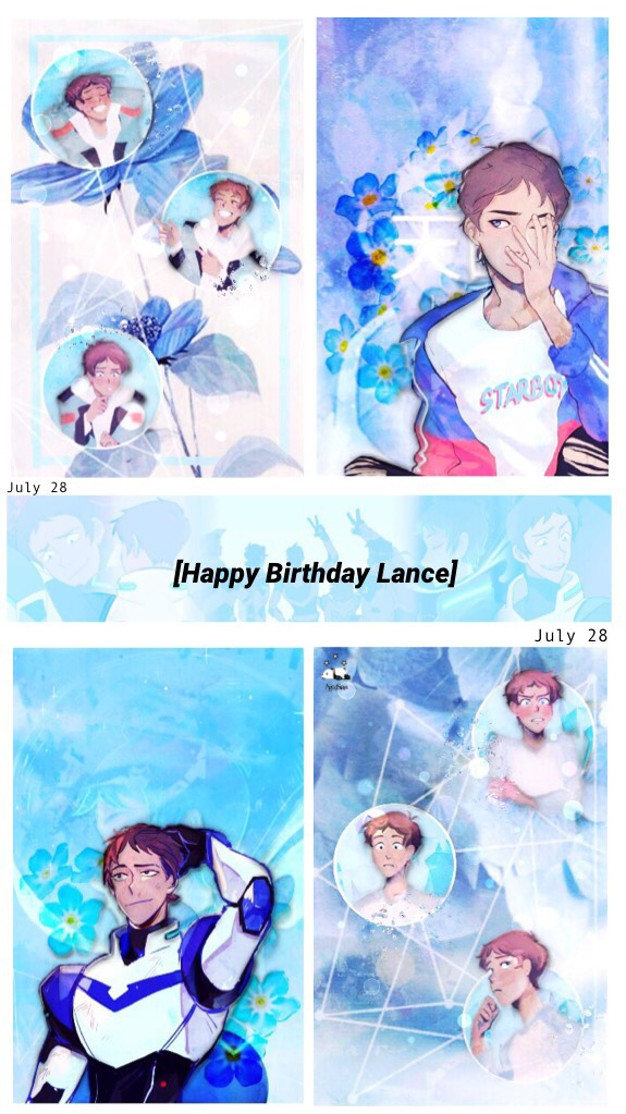 //12:00 a.m. July 28//  ☆Happy Birthday to Lance, who deserves every star space has☆  (Credit to artists of the fanart)