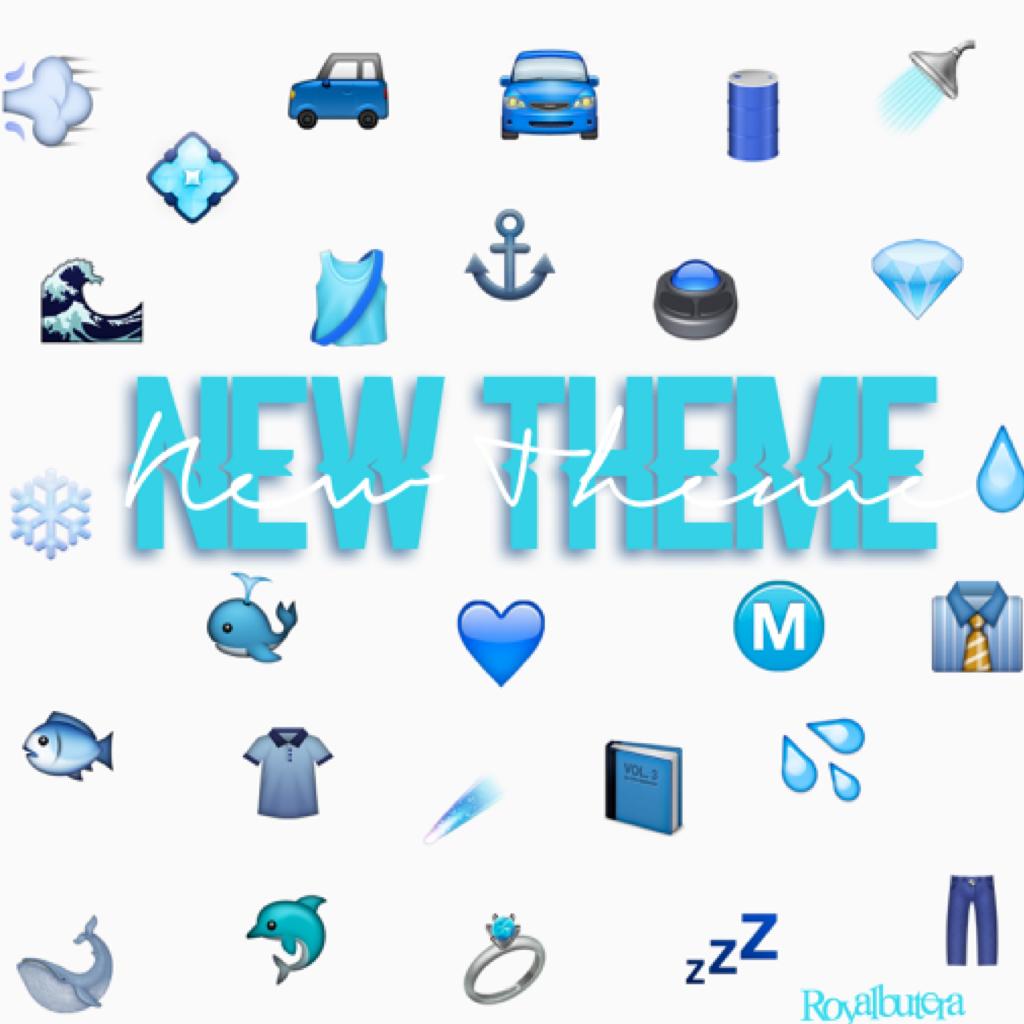New theme!💦💙