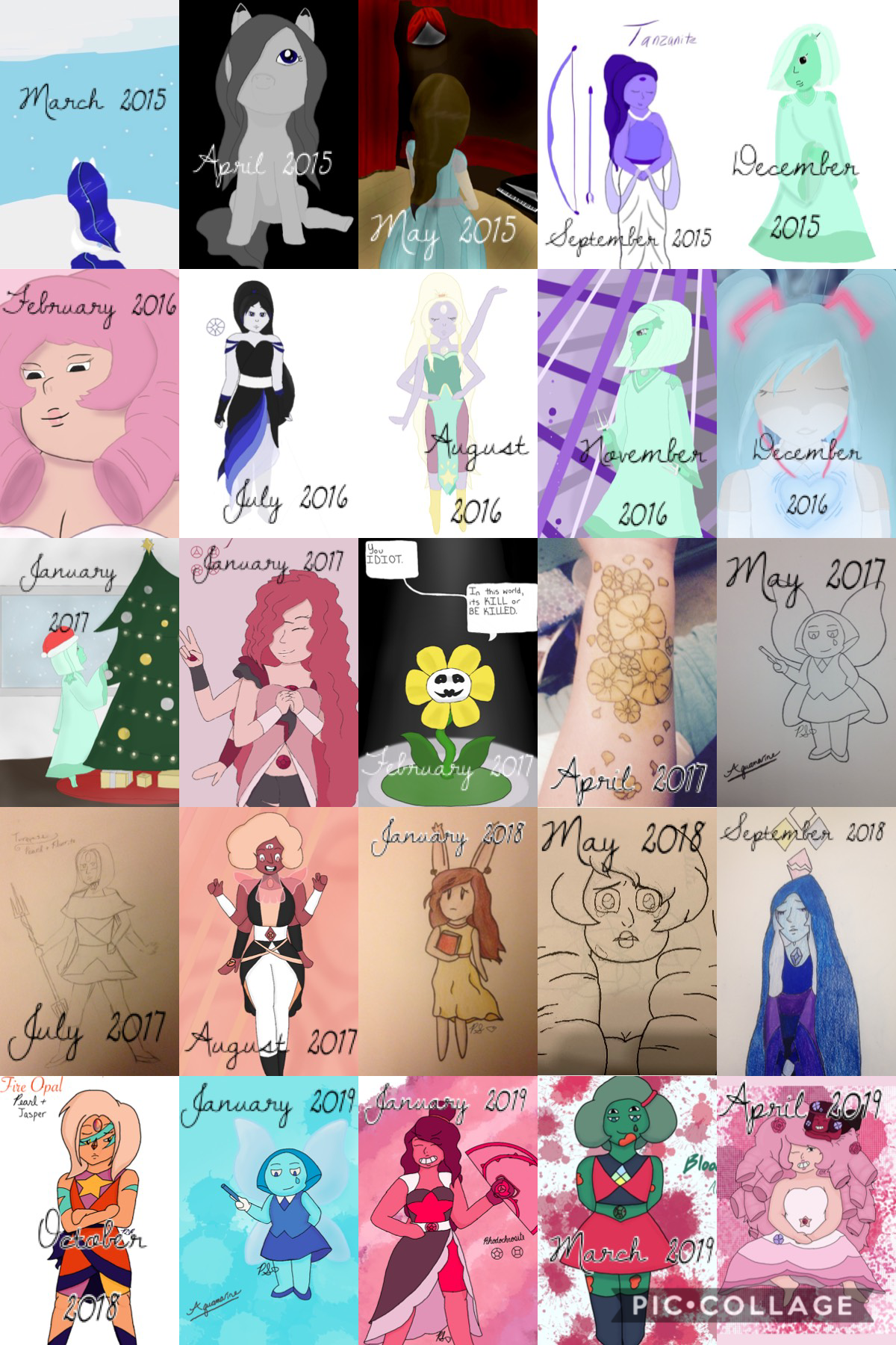 Art progress! I'm actually really proud of how much I've grown over the past four years. 💕  Side note: Check out my most recent post and let me know what you think :)