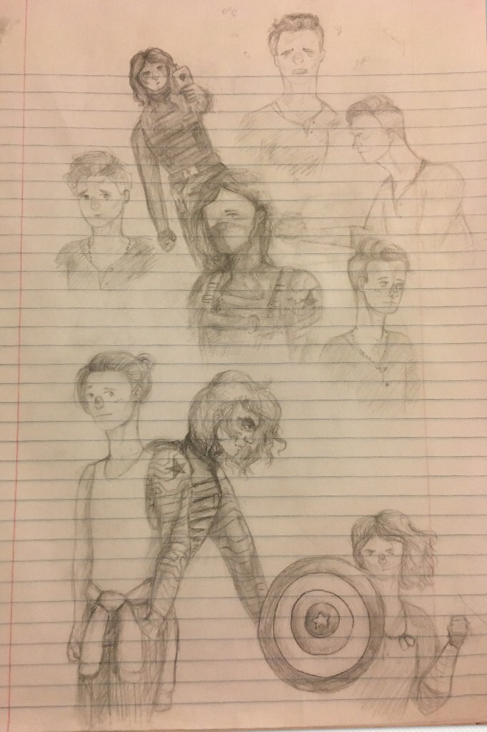 Doodles I did a little over a month ago instead of doing work