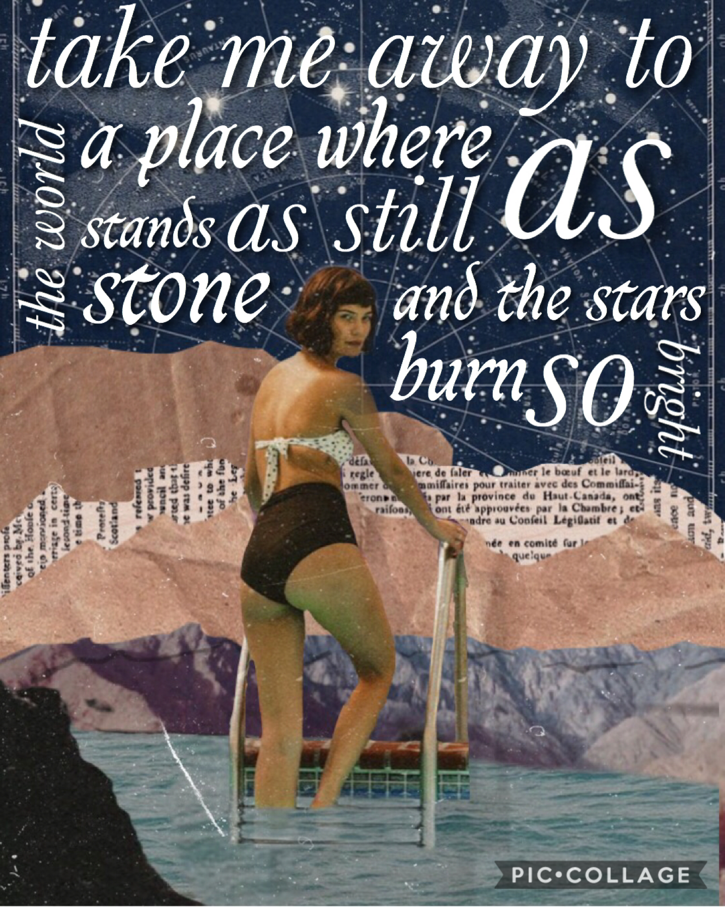 17th May 2020 Simple collage and a quote that I made up to fit in the space😌 It's super late now were I live and I just spent so long on this so now I need to go sleep ahaha