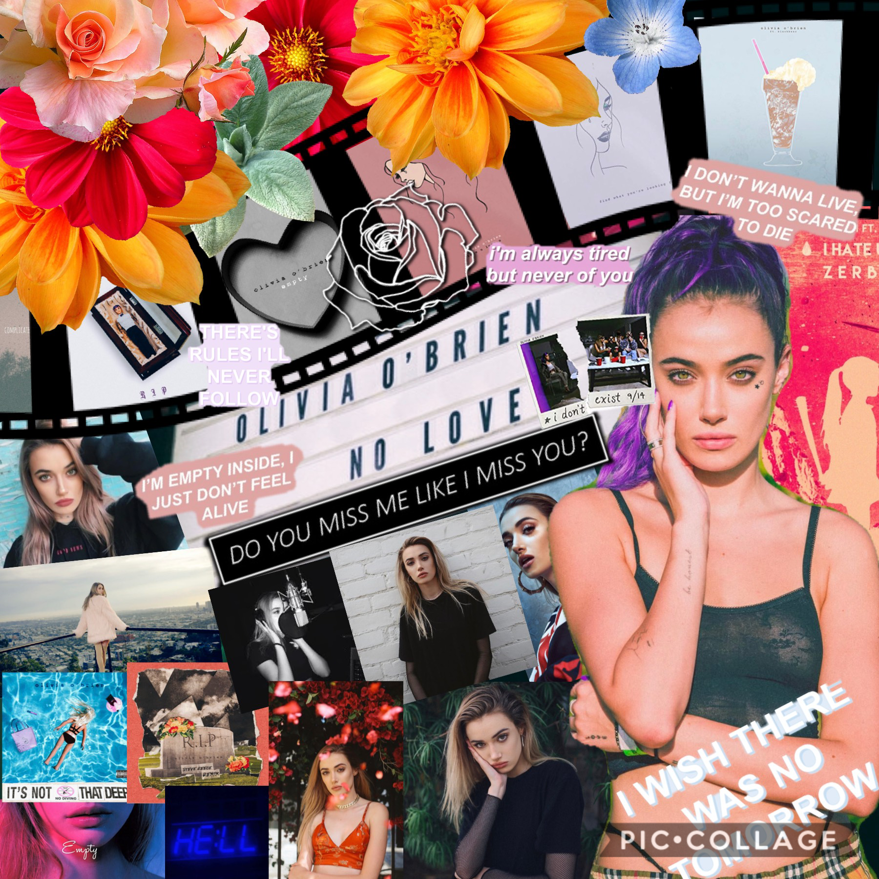 I wanted to make a collage dedicated to my favorite singer: Olivia O'Brien❤️