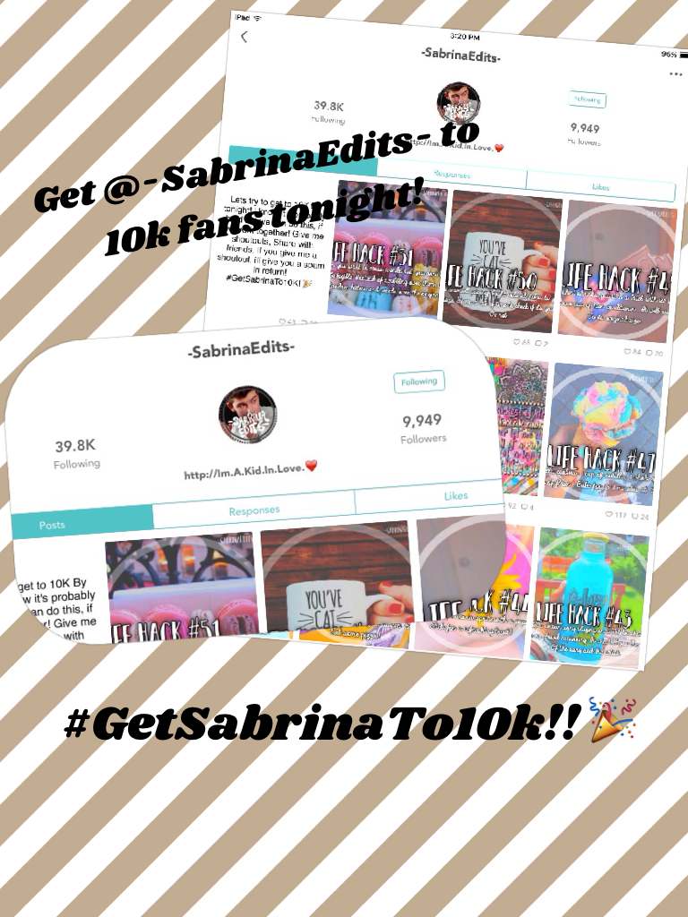 #GetSabrinaTo10k!! 🎉