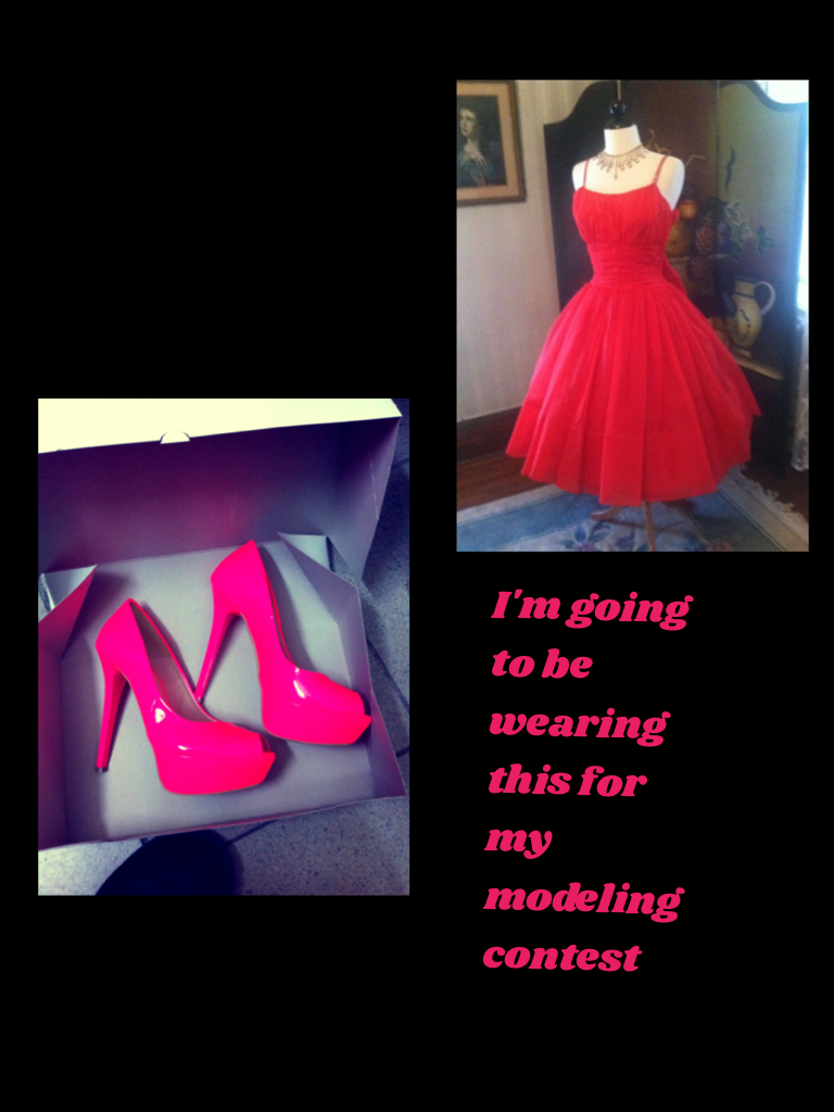 I'm going to be wearing this for my modeling contest