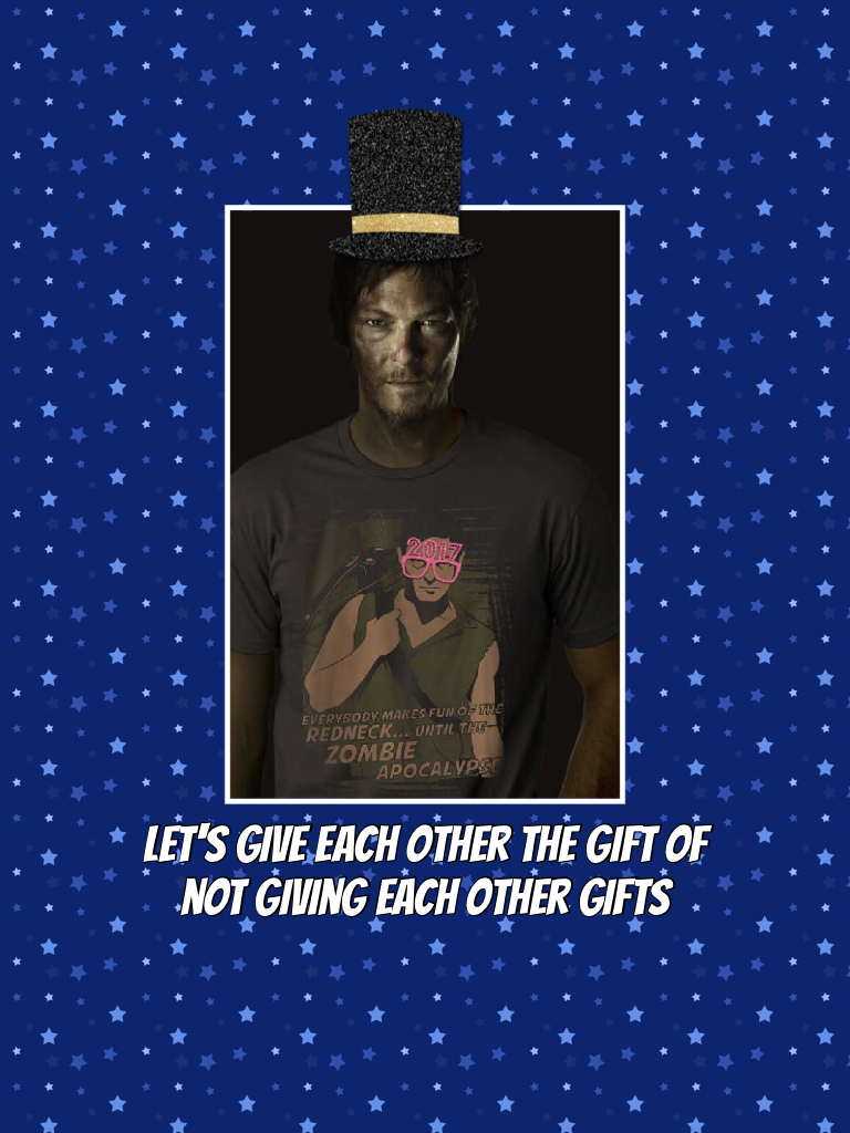 Let's give each other the gift of not giving each other gifts
