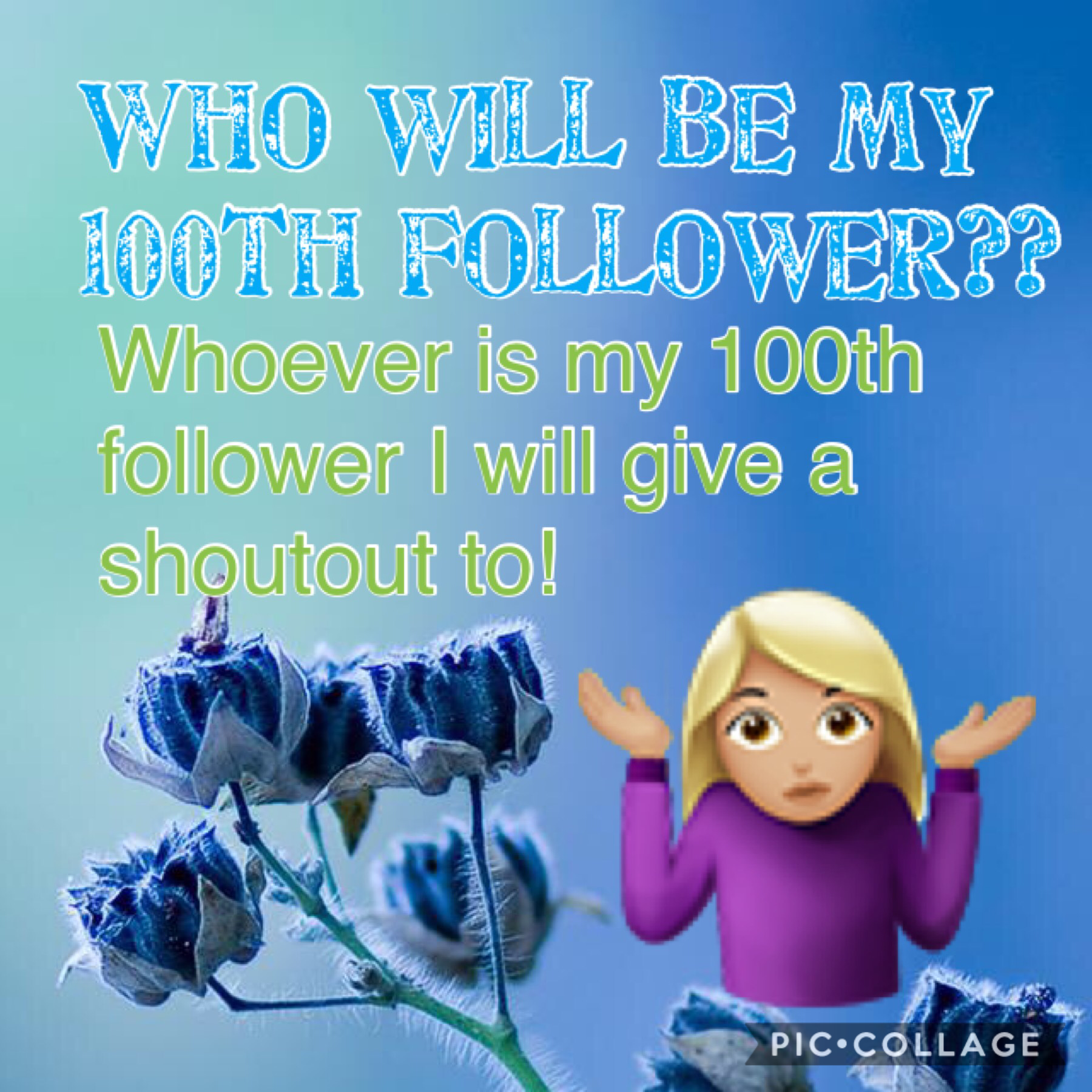 Will you be my 100th follower?? Hmm... 🤔 or will you?? 🤷🏼♀️🤷🏼♀️