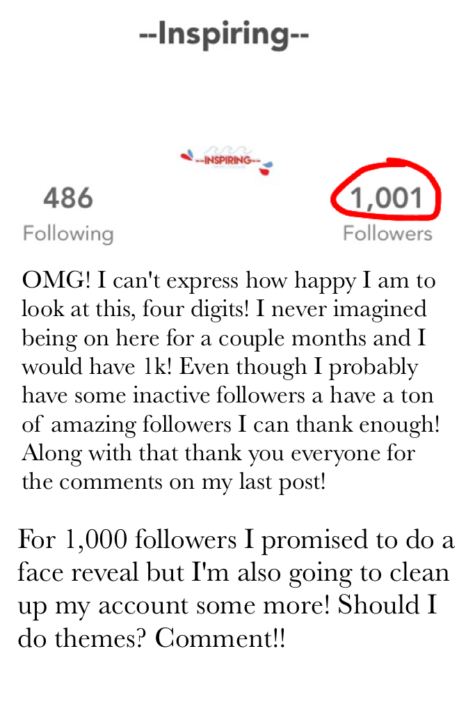 Thank you for those 1k people who clicked the follow button!