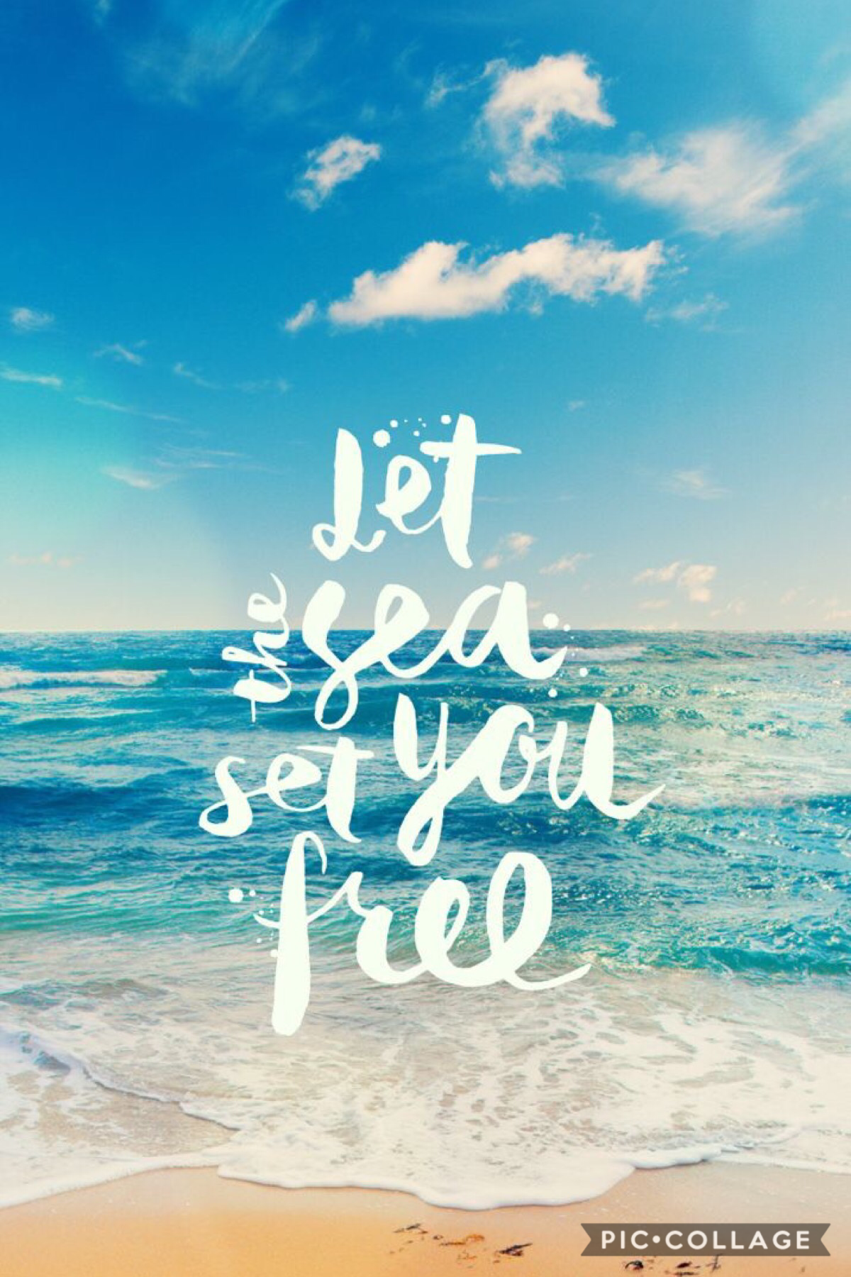 Let the sea set you free and tap the heart button