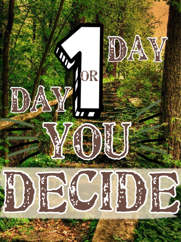 1 Day OR Day 1. You decide. ~TAP~ I hope you like this! Also...comment what you think this means!!