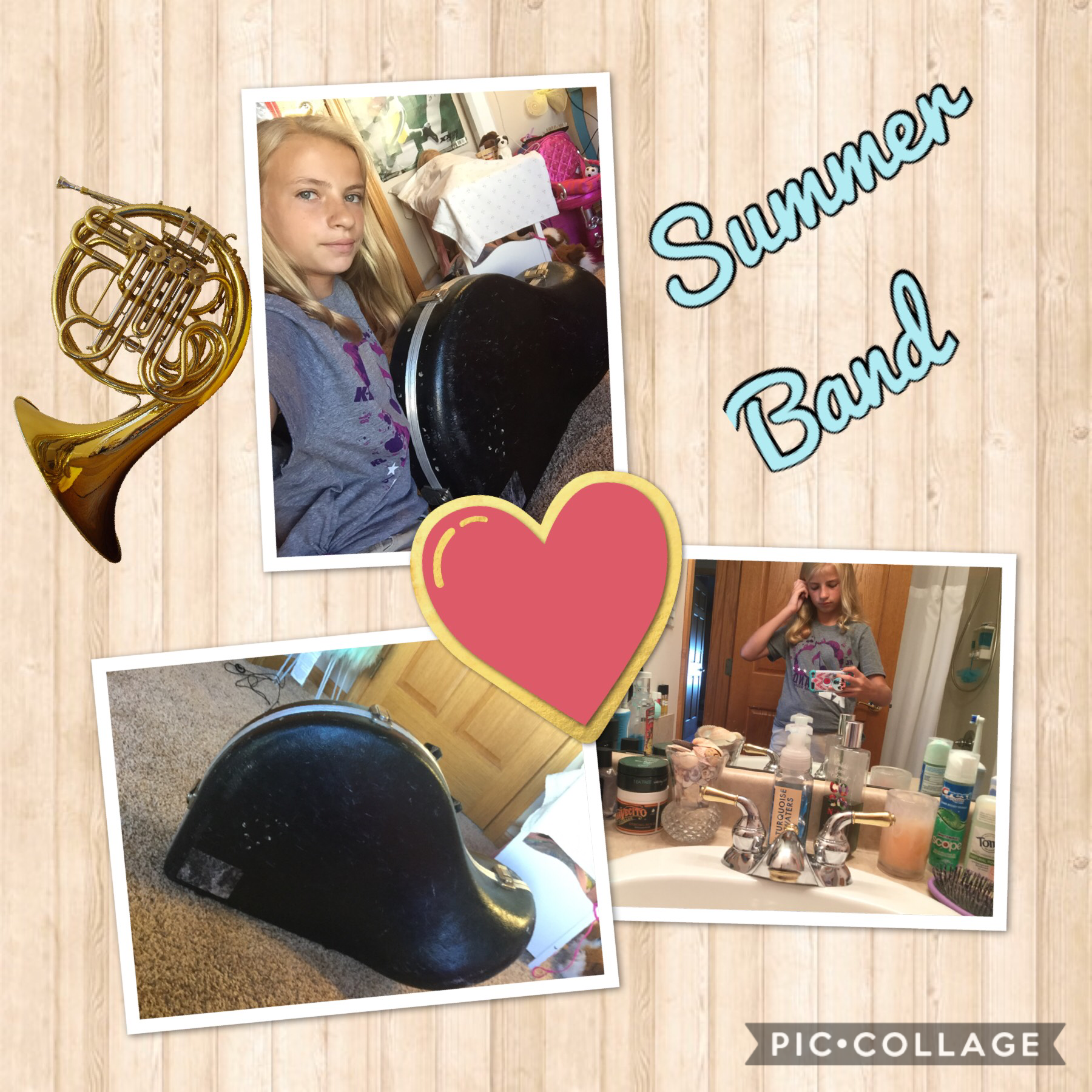 I went SummerBand! It so much fun and I thought I did good! If anybody went to summer band leave a comment and love my pic collage!👍❤️🎺