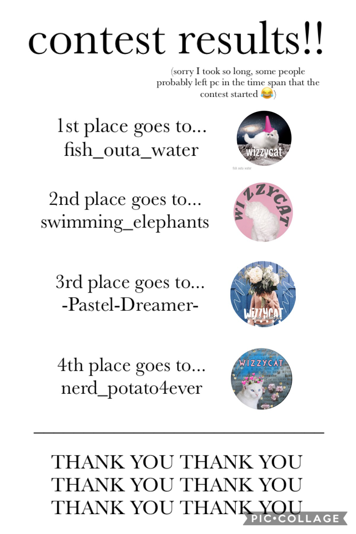 thank you to everyone who entered!! they were all so amazing ✨  does anybody know where darker_oceans went?