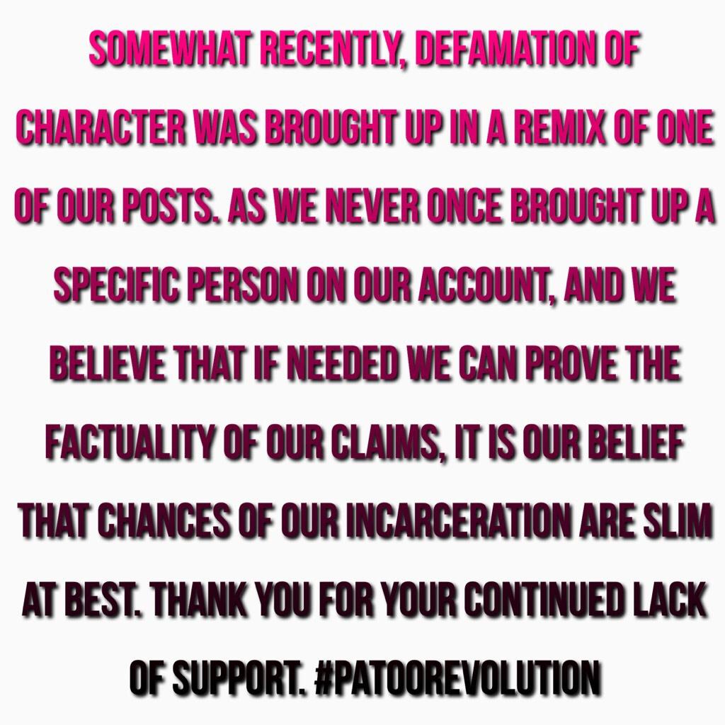 #patoorevolution